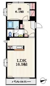 オークハイツ3階Fの間取り画像