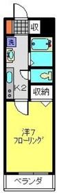 メゾンクレイン2階Fの間取り画像