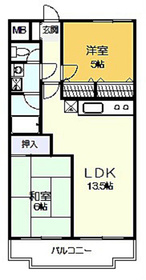 グリーンヴァレー松澤5階Fの間取り画像