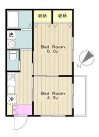 Maison緑ヶ丘1階Fの間取り画像