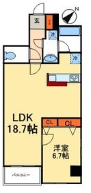 カスタリア入谷8階Fの間取り画像