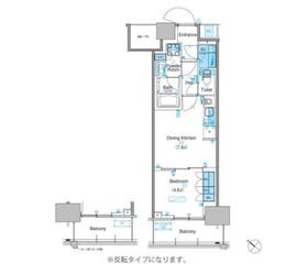 パークアクシス豊洲キャナル9階Fの間取り画像