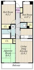 カ・アンジェリ4階Fの間取り画像