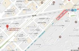 新横浜駅 徒歩8分案内図