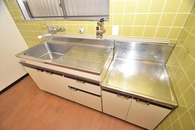 巽北1-29-14 貸家 システムキッチンは広々と使えて、お料理が楽しくなります。