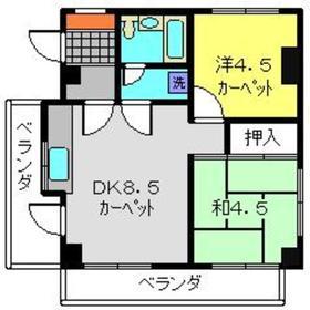 パークヒルズ横浜4階Fの間取り画像