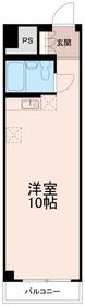 ティーズガーデン永山(T's garden永山)2階Fの間取り画像
