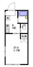 メゾンヨシダ1階Fの間取り画像