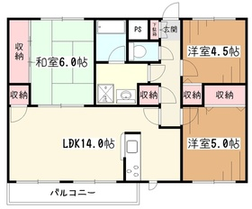 JUN青葉町コート2階Fの間取り画像