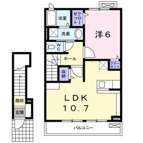 マグノリア2階Fの間取り画像