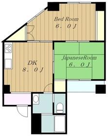 マーブルパレス2階Fの間取り画像