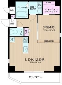 コージーコート西新宿5階Fの間取り画像