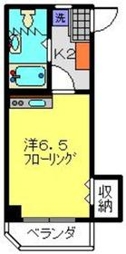村田ハイツ3階Fの間取り画像