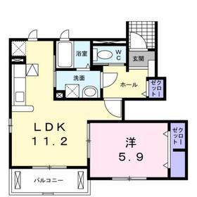 アルカンシエル1階Fの間取り画像