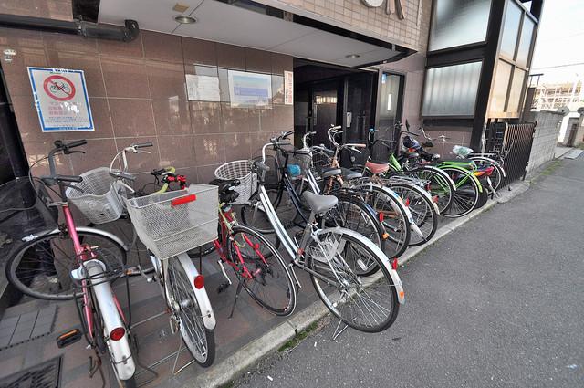 メゾンSK 敷地内には専用の駐輪スペースもあります。