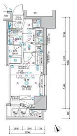 ディアレイシャス横浜 WEST11階Fの間取り画像