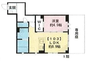 グルナディエ1階Fの間取り画像