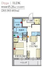 ヘーベルVillage駒込6丁目3階Fの間取り画像