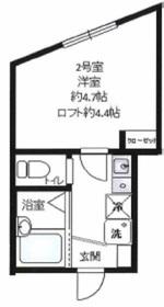 リーヴェルLeco横浜Act22階Fの間取り画像