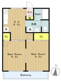 マインハウス2階Fの間取り画像