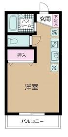 一之江信徳ハイツ2階Fの間取り画像