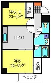 クレインヒル2階Fの間取り画像