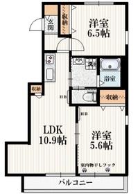 新小平駅 徒歩13分2階Fの間取り画像