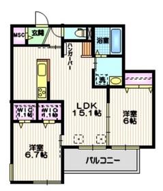 (仮称)十太夫メゾン1階Fの間取り画像
