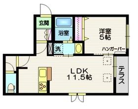 GRANDE NINE1階Fの間取り画像
