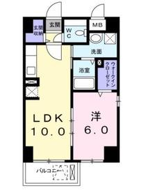 エタニティヨコハマ2階Fの間取り画像