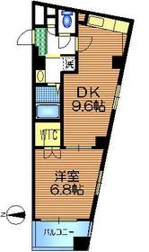 エスポワール東松原4階Fの間取り画像
