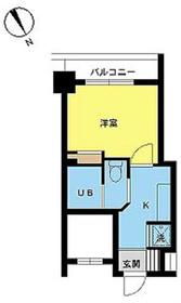 スカイコート三田慶大前5階Fの間取り画像