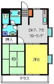 名瀬コート1階Fの間取り画像
