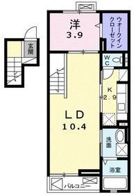 ソレイユ東久留米4階Fの間取り画像