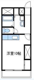 コーポ落合5階Fの間取り画像