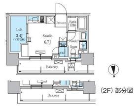 学芸大学駅 徒歩11分8階Fの間取り画像
