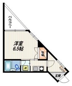 シャトレ東矢口3階Fの間取り画像