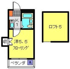 ブルーハイム駒岡3階Fの間取り画像