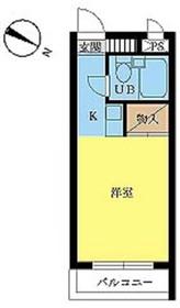 スカイコート世田谷上馬2階Fの間取り画像