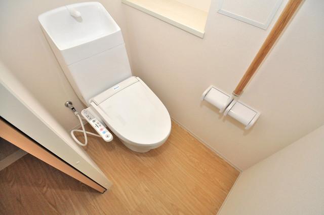 エイチ・ツーオー今里東 清潔感のある爽やかなトイレ。誰もがリラックスできる空間です。
