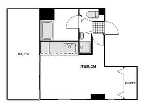 浅草五丁目ビル5階Fの間取り画像