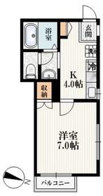コーポ・トーランス2階Fの間取り画像