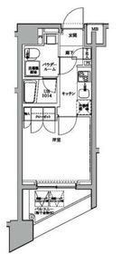 スパシエ川崎ウエスト12階Fの間取り画像