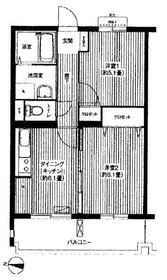 新羽駅 徒歩11分2階Fの間取り画像