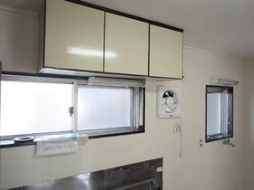 キッチン上部収納と換気扇!