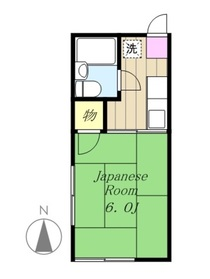 シティーハイムカツミ1階Fの間取り画像