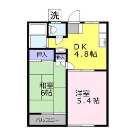 コーポ内田2階Fの間取り画像