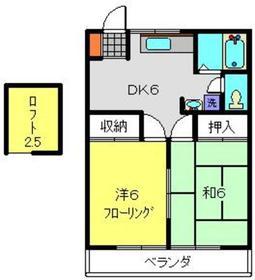 グレースハイツⅠ1階Fの間取り画像