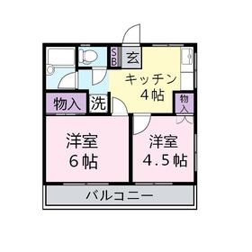 前谷(まえや)マンション2階Fの間取り画像