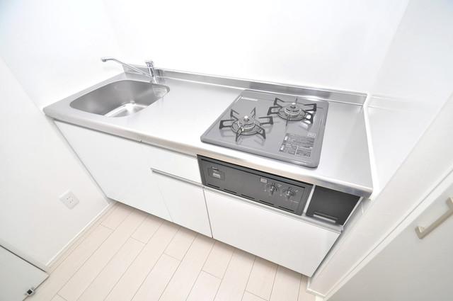 クラリスクオーレ システムキッチンなので広々使えて、お料理もはかどります。